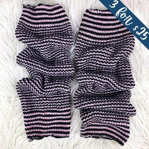 Accessories - 3/$25 Black & Pink Striped Knee-High Leg Warmers